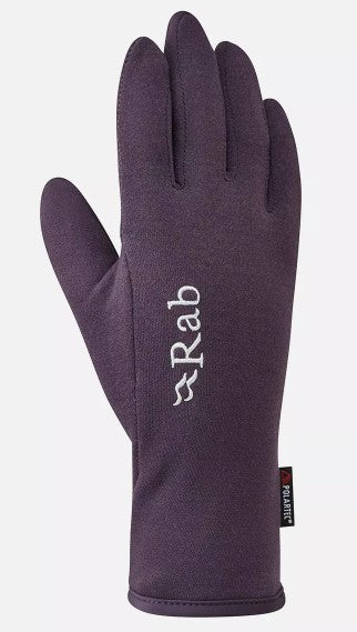 Women's Rab Power Stretch Contact Glove - Purple