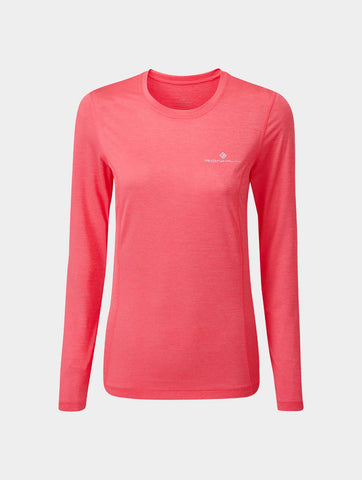 Women's Ron Hill Tech LS Tee - Pink