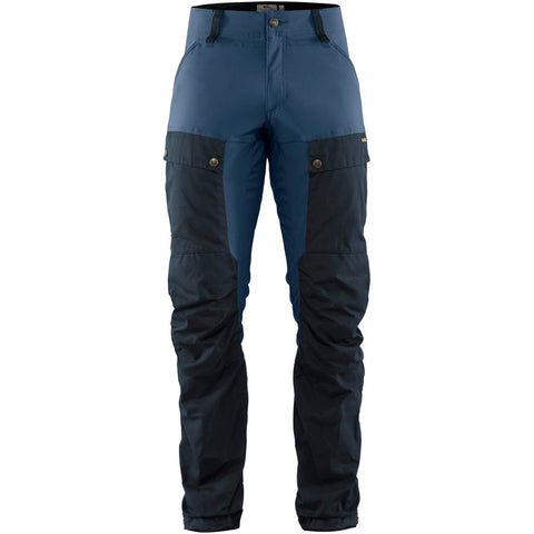 Fjall Raven Pants Men's Keb REGULAR Leg Trousers Dark Navy/Uncle Blue