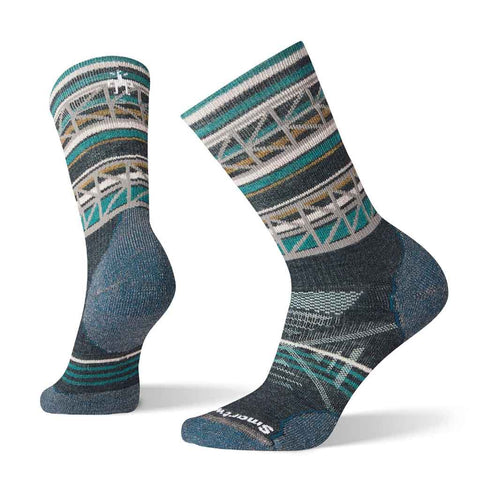 Smartwool HIKING Socks Women's PhD Outdoor Medium Pattern Crew Everglade