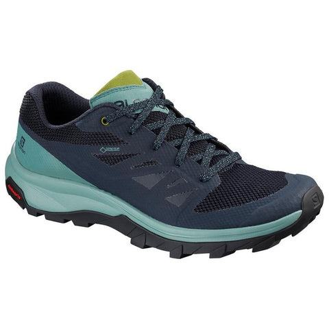 Women's Salomon Outline GORE-TEX Hiking Shoes - Trellis/Navy/Guacamole
