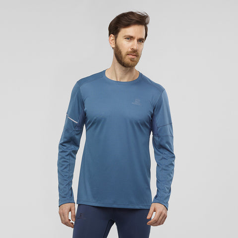 Salomon Men's Agile LS Tee - Navy