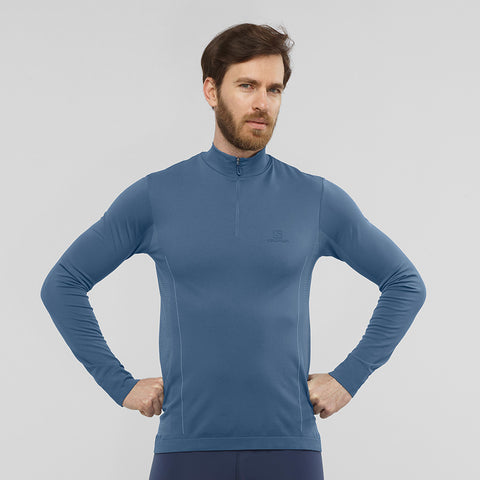 Salomon Men's Explore Seamless HZ - Navy