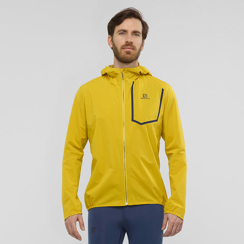 Men's Salomon Bonatti Pro Waterproof Jacket - Yellow