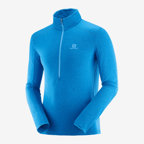 Men's Salomon Outline Half-Zip Mid Layer - Blue