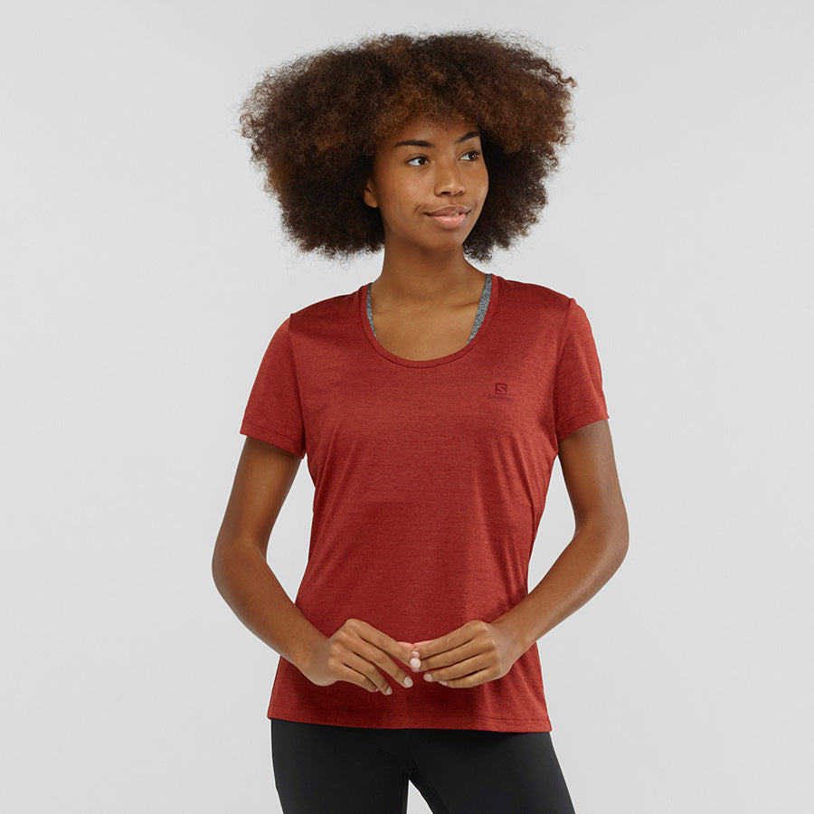 Women's Salomon Agile SS T-Shirt - Red