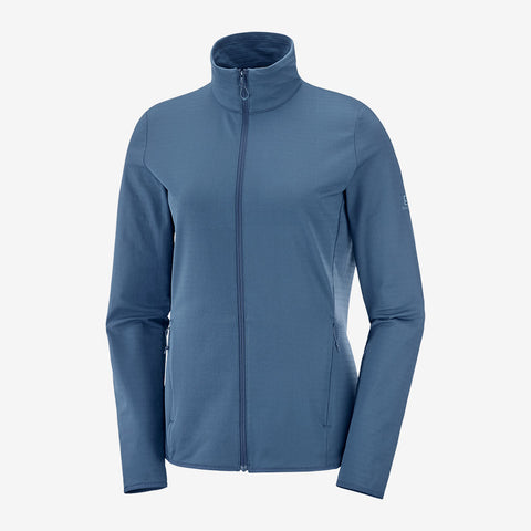Women's Salomon Outrack Full Zip Midlayer - Navy