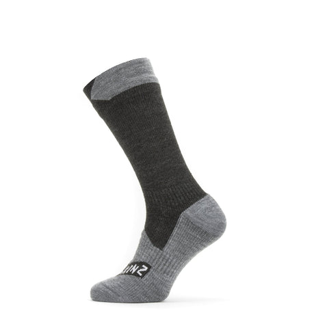 U Sealskinz Waterproof All Weather Mid Sock - Black