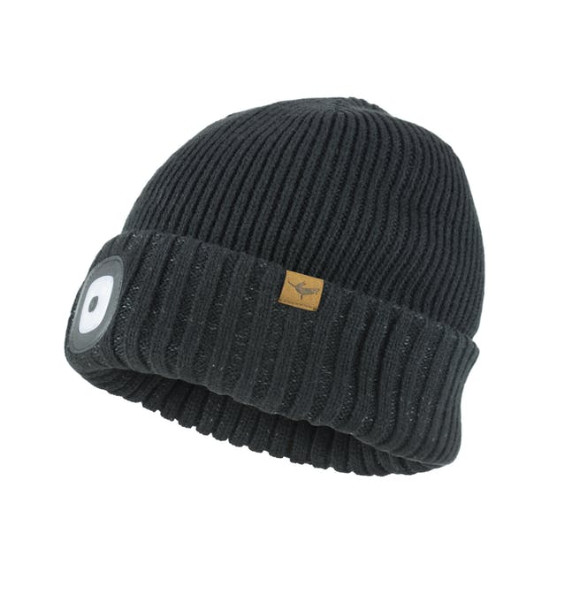 Unisex Sealskinz Waterproof Cold Weather Led Cuff Beanie - Black