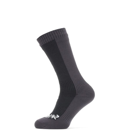 Unisex Sealskinz Waterproof Cold Weather Mid Sock - Black