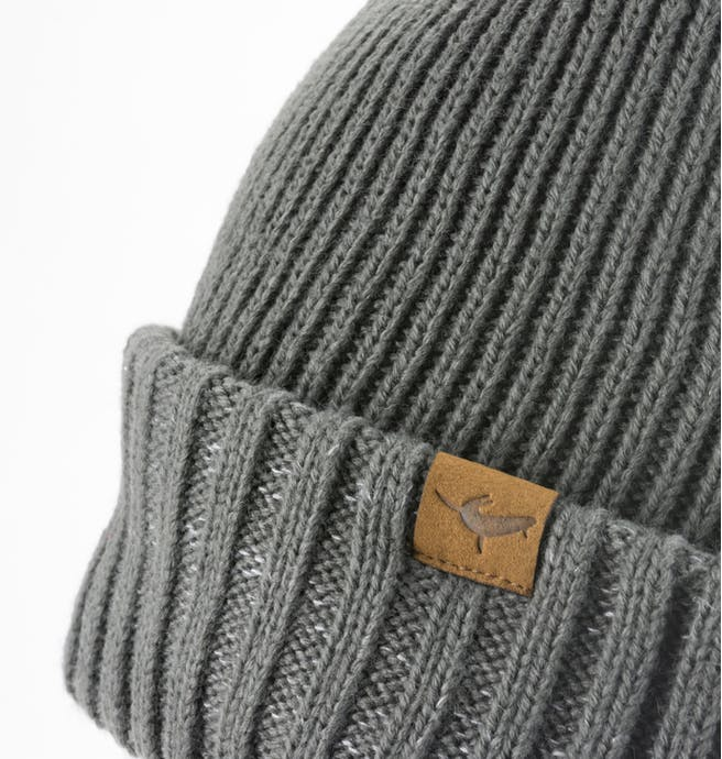Unisex Sealskinz Waterproof Cold Weather Roll Cuff Beanie - Grey