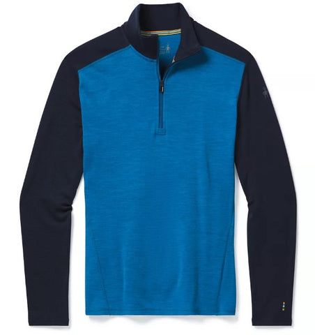 Men's Smartwool Merino 250 Baselayer 1/4 Zip - Blue