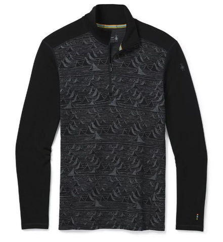 Men's Smartwool Merino 250 Baselayer 1/4 Zip - Grey