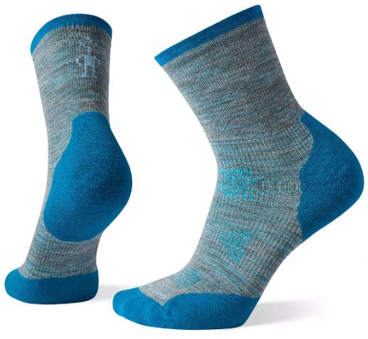Women's Smartwool Phd Run Cold Weather Mid Crew - Blue