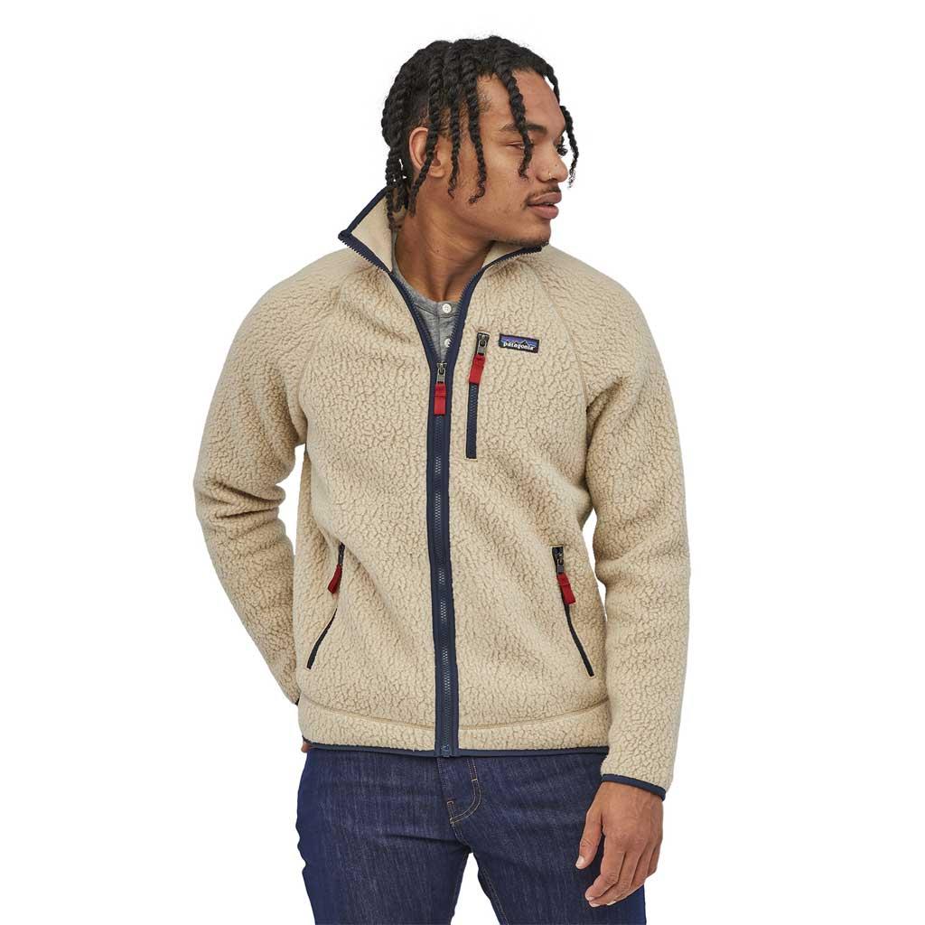 Patagonia FLEECE Jacket Men's Retro Pile El Cap Khaki