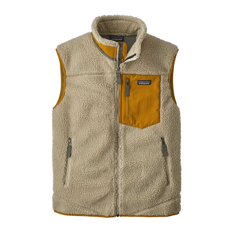 Patagonia FLEECE Top Men's Classic Retro-X Vest Pelican/Wren Gold