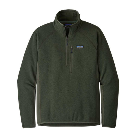 Patagonia FLEECE Top Men's Performance Better Sweater 1/4 Zip Pullover Alder