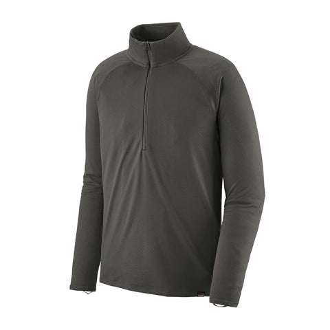 Patagonia BASE LAYER Top Men's Capilene Midweight Zip Neck Forge Grey