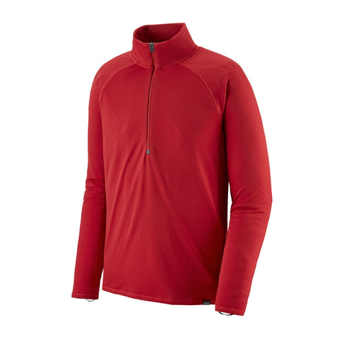 Patagonia BASE LAYER Top Men's Capilene Midweight Zip Neck Fire