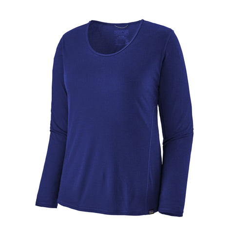 Patagonia BASE LAYER Top Women's Capilene Cap Cool LS LW Shirt Cobalt Blue