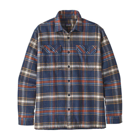 Patagonia Shirt Men's LS Fjord Flannel Defender:Neo Navy