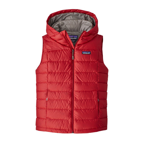 Patagonia INSULATED Top Women's Hi-Loft Down Hooded Vest Rincon Red