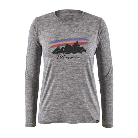 Patagonia BASE LAYER Top Women's LS Capilene Cool Daily Graphic T Fitzroy