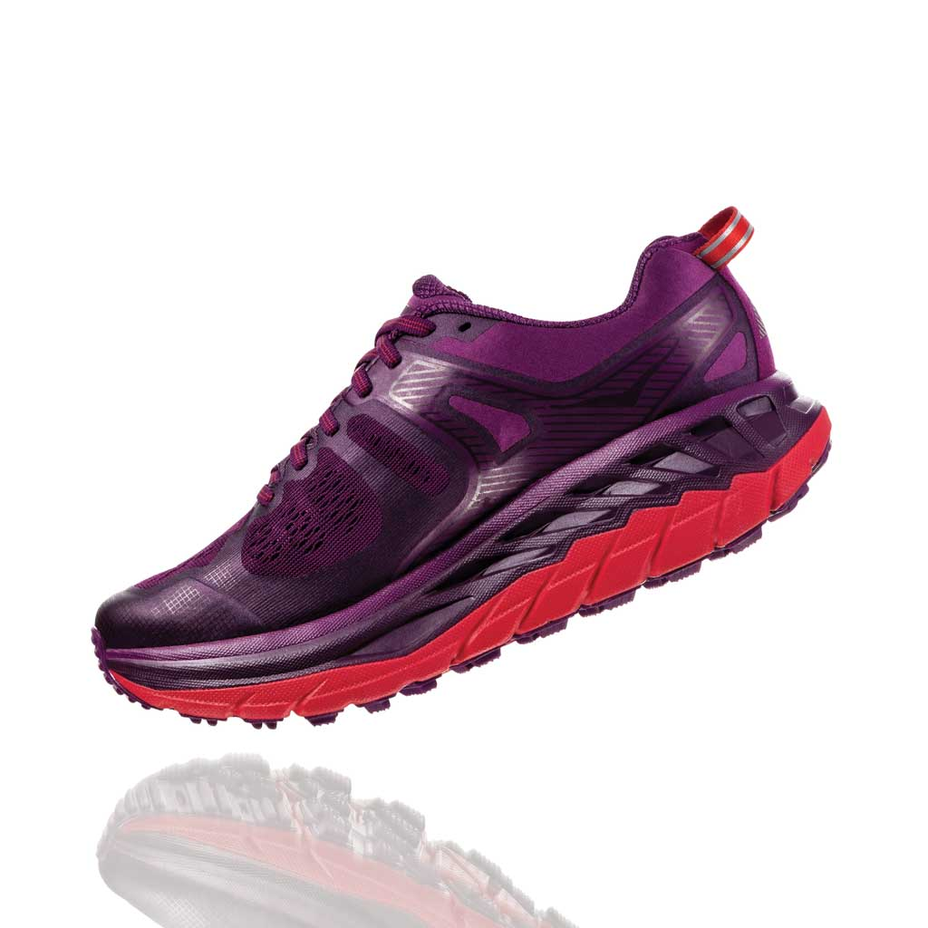Hoka Running Shoes Women's Stinson ATR 5 Grape Juice/Poppy Red