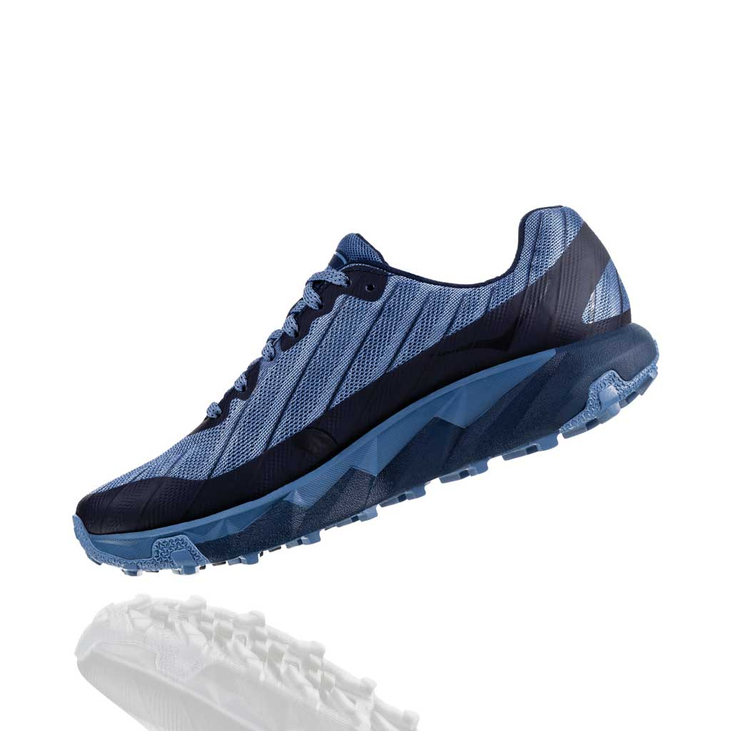 Hoka Running Shoes Women's Torrent Black Iris/Moonlight Blue