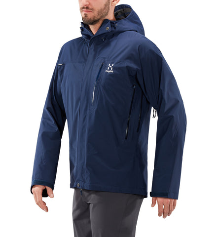 Men's Haglofs Astral GTX Waterproof Jacket - Navy