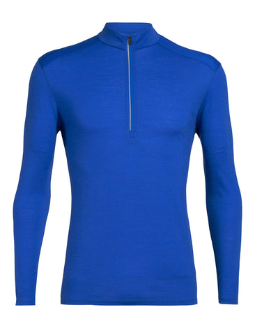 Icebreaker Men's Amplify Long Sleeve Half Zip- Lapis