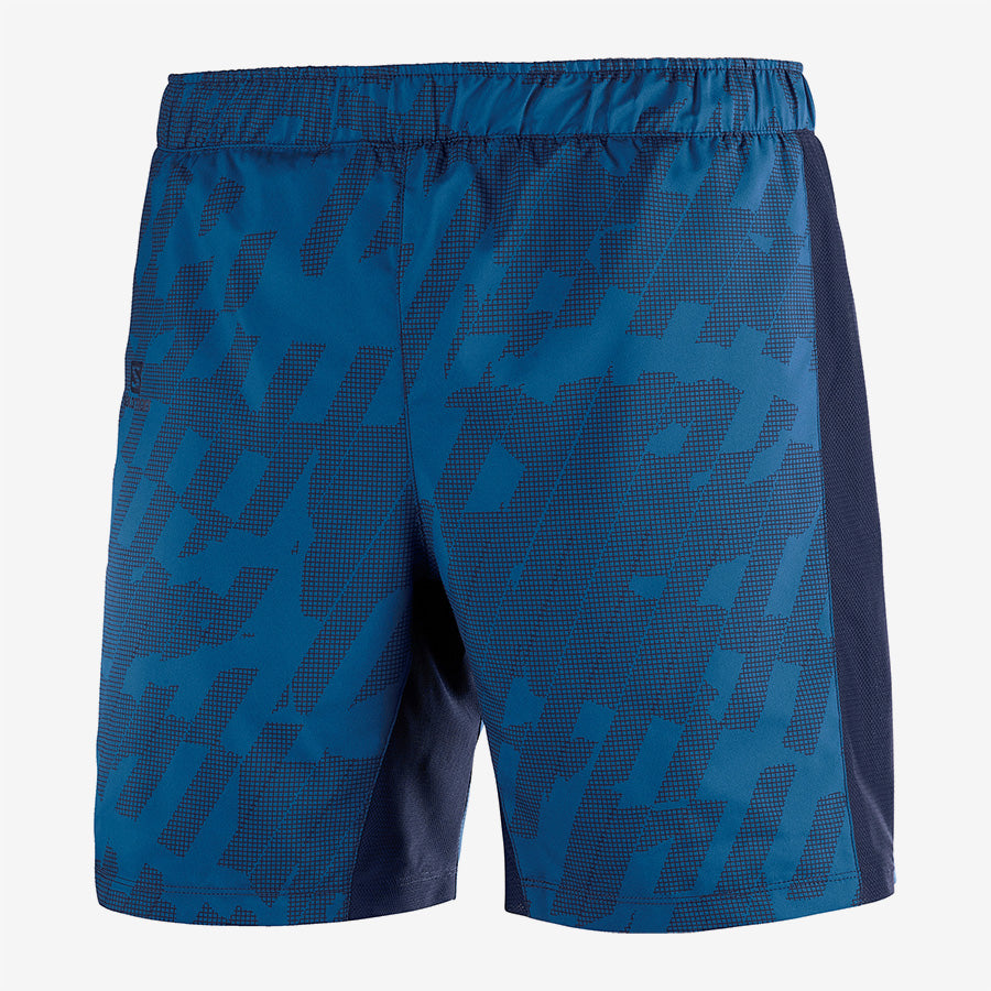 Men's Salomon Agile 2 in 1 Short- Blue