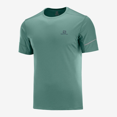 Salomon Men's Agile Short Sleeve Tee- Balsam Green