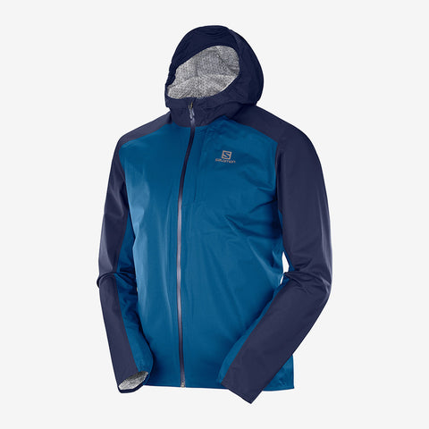 Salomon Men's Bonatti  Waterproof Jacket- Night Sky/ Poseidon