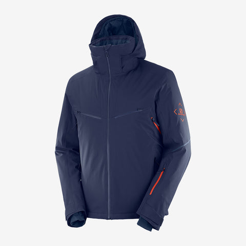 Men's Salomon Brilliant Jacket - Night Sky Goji Berry