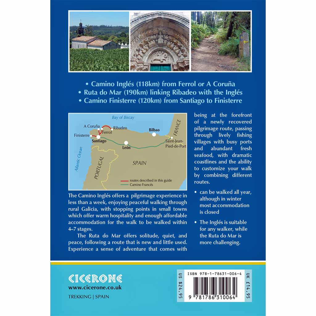 Cicerone Walking Guide Book: Camino Ingles and Ruta do Mar