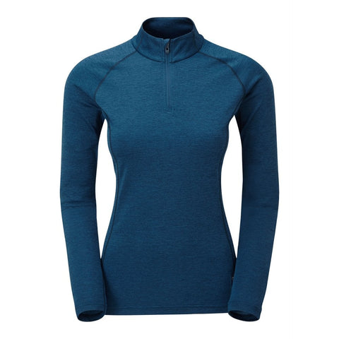 Women's Montane Dart Zip Neck - Navy