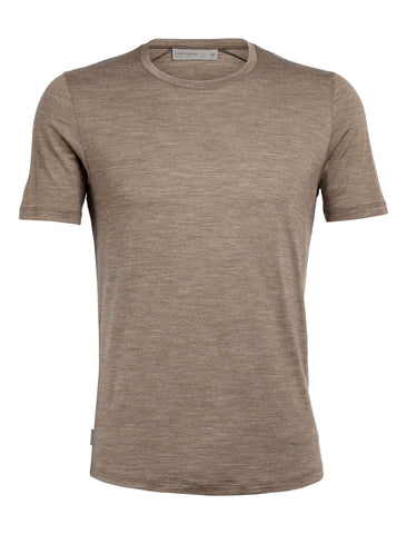 Icebreaker Men's Sphere Short Sleeve Crewe- Driftwood Heather