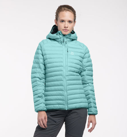 Haglofs Women's Essens Mimic Hood- Glacier Green