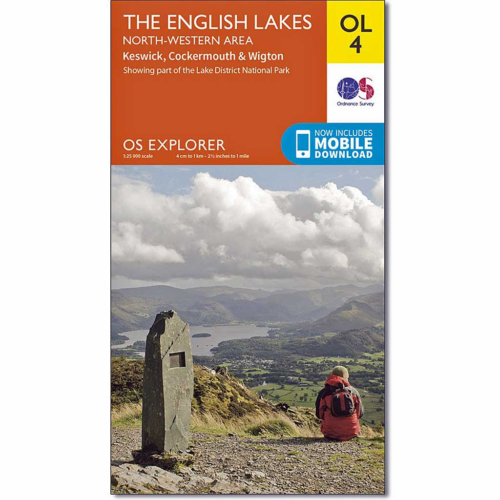 OS Explorer Map OL4 The English Lakes - North Western