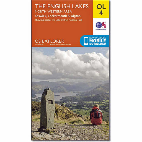 OS Explorer ACTIVE Map OL4 The English Lakes - North Western