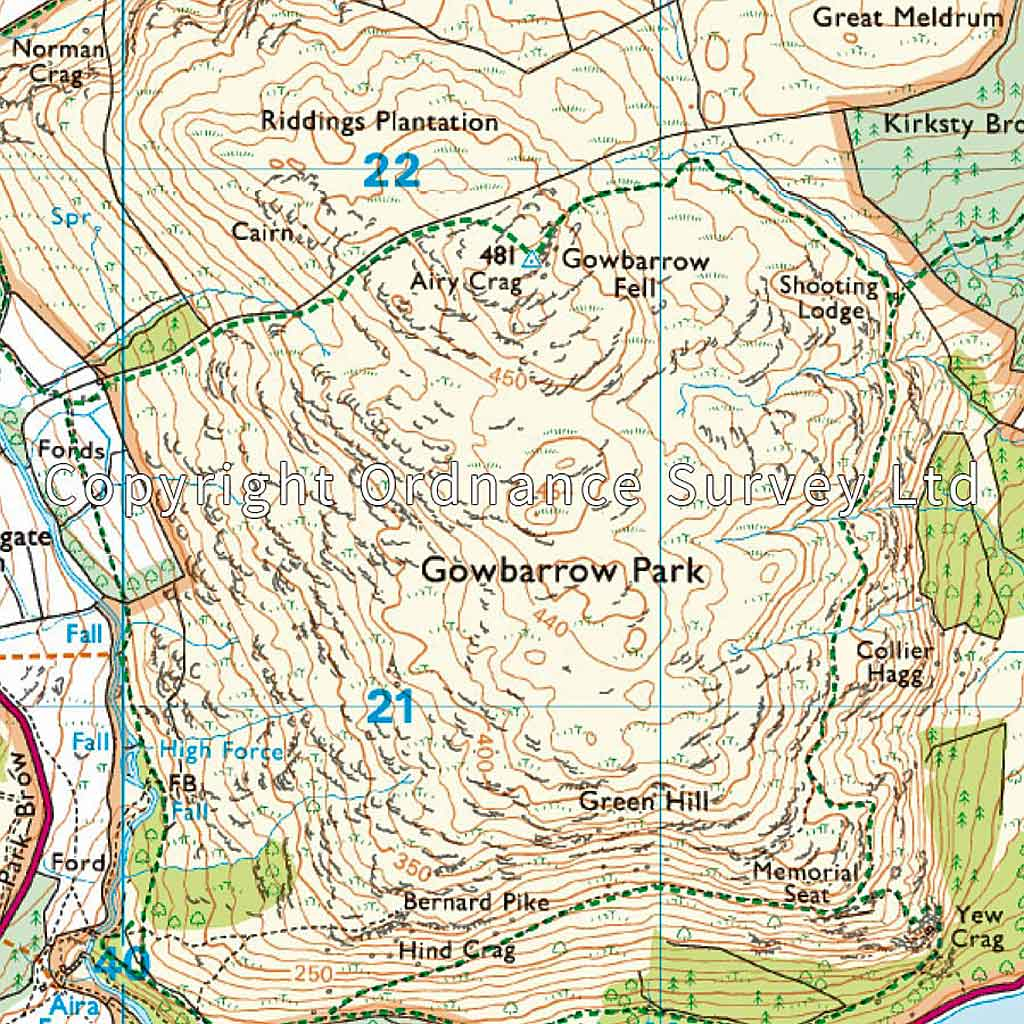 OS Explorer Map OL5 The English Lakes - North Eastern