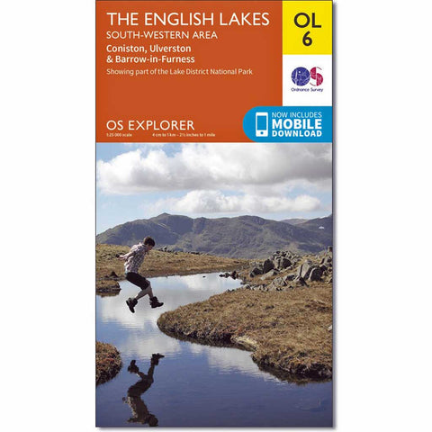 OS Explorer ACTIVE Map OL6 The English Lakes - South Western