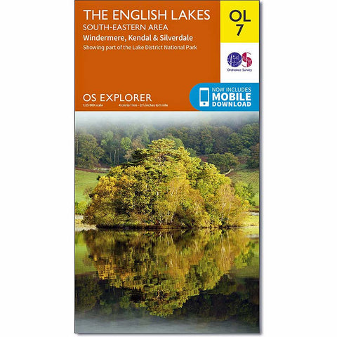 OS Explorer ACTIVE Map OL7 The English Lakes - South Eastern