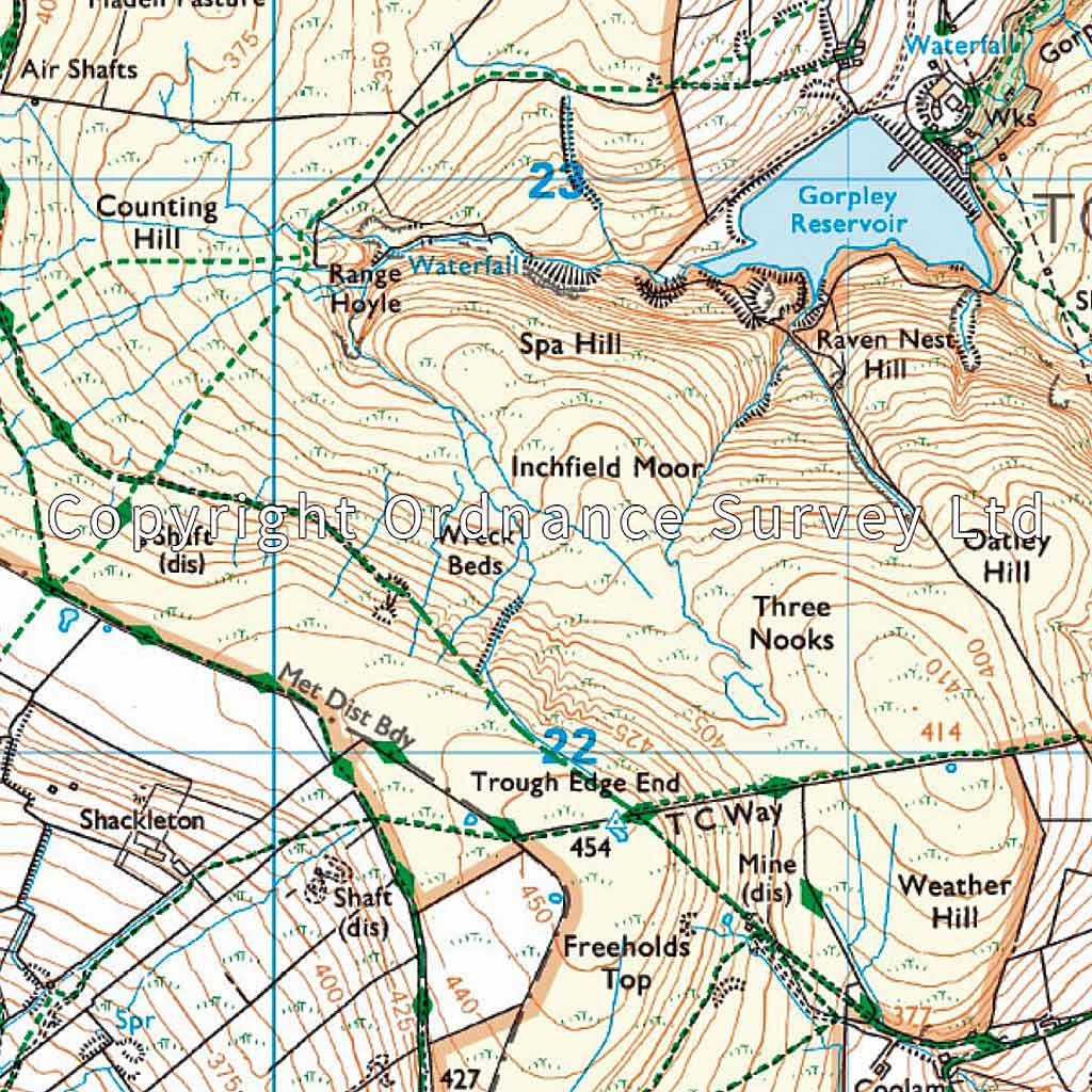 OS Explorer ACTIVE Map OL21 South Pennines