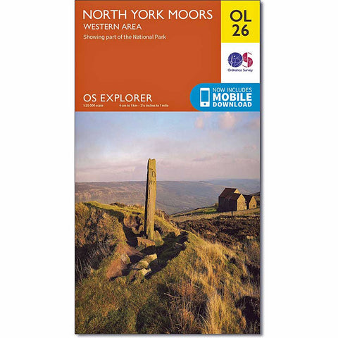 OS Explorer ACTIVE Map OL26 North York Moors - Western