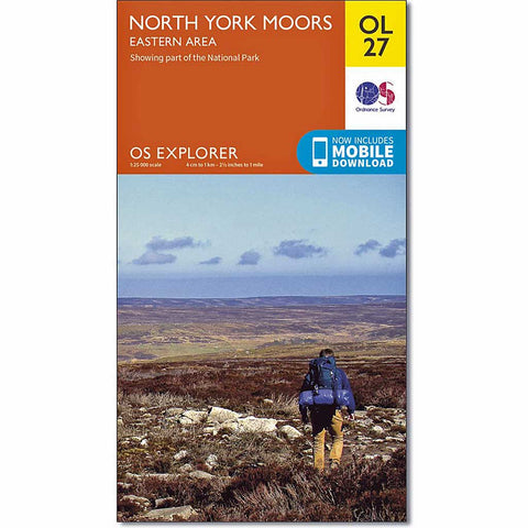 OS Explorer ACTIVE Map OL27 North York Moors - Eastern