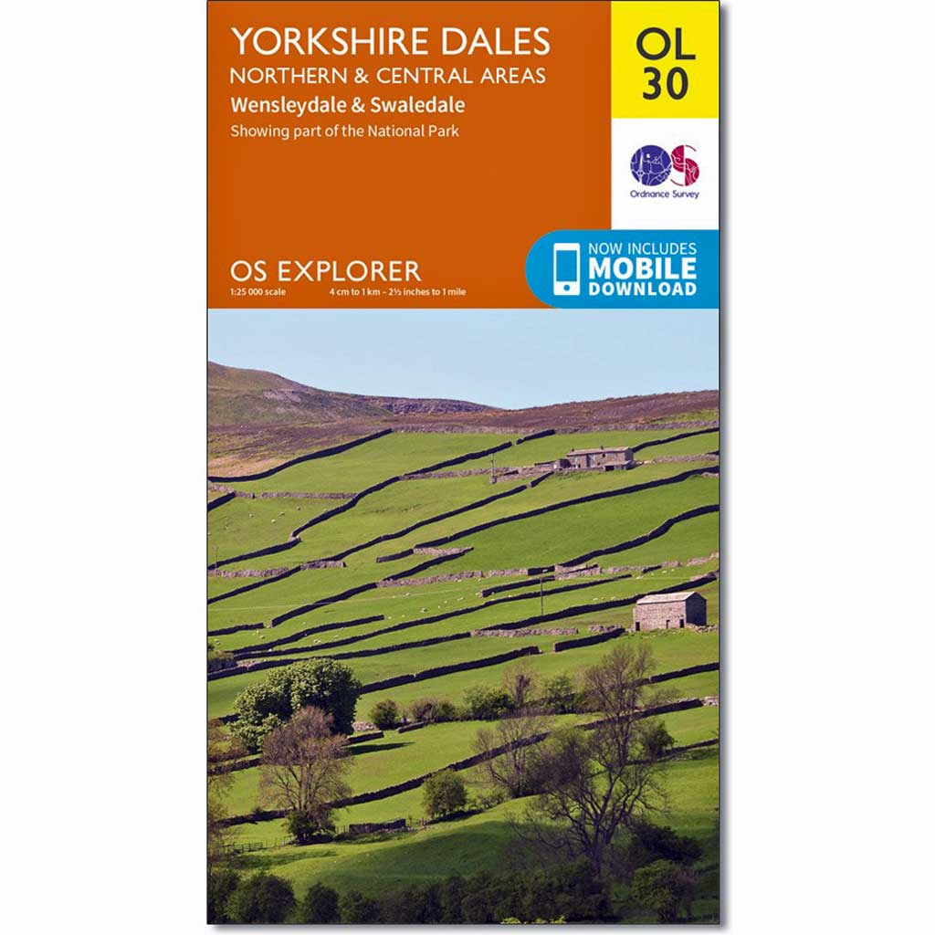 OS Explorer ACTIVE Map OL30 Yorkshire Dales - Northern & Central