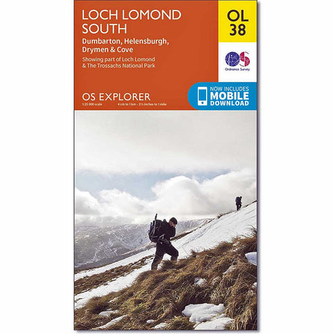 OS Explorer ACTIVE Map OL38 Loch Lomond