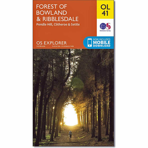 OS Explorer ACTIVE Map OL41 Forest of Bowland & Ribblesdale